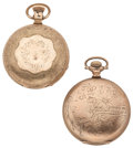 Timepieces:Pocket (post 1900), Howard Bros. Fredonia Transitional & Waltham Hunter's Case Pocket Watches. ... (Total: 2 Items)