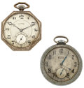 Timepieces:Pocket (post 1900), Illinois Time King & Elgin Open Face Pocket Watches. ...(Total: 2 Items)