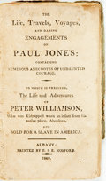 Books:Biography & Memoir, [Slave Narrative]. [Peter Williamson]. The Life, Travels,Voyages, and Daring Engagements of Paul Jones: Containing ...