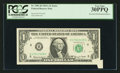 Error Notes:Foldovers, Fr. 1901-H $1 1963A Federal Reserve Note. PCGS Very Fine 30PPQ.....