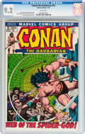 Bronze Age (1970-1979):Adventure, Conan the Barbarian #13 (Marvel, 1972) CGC NM- 9.2 White pages....
