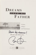 Books:Biography & Memoir, Barack Obama. Dreams from My Father. A Story of Race andInheritance. New York: Times Books, [1995]. First editi...