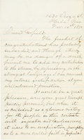Miscellaneous:Ephemera, [James A. Garfield]. David M. Evans Autograph Letter Signed....