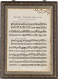 Autographs:Non-American, [Horatio Nelson]. Emma, Lady Hamilton, Sheet Music Signed....