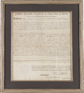 Autographs:U.S. Presidents, John Adams Land Grant Signed....