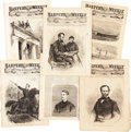 Miscellaneous:Ephemera, [Abraham Lincoln]. Harper's Weekly: Six Issues with CivilWar Content....