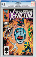 Modern Age (1980-Present):Superhero, X-Factor #6 (Marvel, 1986) CGC NM- 9.2 White pages....