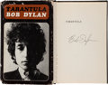 Books:Americana & American History, Bob Dylan. Tarantula. New York: The Macmillan Company,[1971]. First trade edition. Signed by Dylan on the hal... (Total:4 Items)