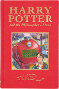Books:Children's Books, J. K. Rowling. Harry Potter and the Philosopher's Stone.London: Bloomsbury, [1999]. First deluxe edition, first p...