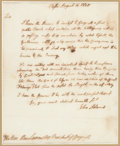Autographs:U.S. Presidents, [Revolutionary War]. John Adams Autograph Letter Signed....