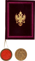 Autographs:Non-American, Emperor Franz Joseph I of Austria Grant of Arms Signed with RelatedMaterial....