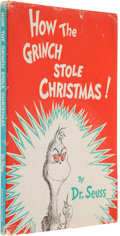 Books:Children's Books, Dr. Seuss. How the Grinch Stole Christmas. New York: RandomHouse, [1957]. First edition, first printing. Inscribe...