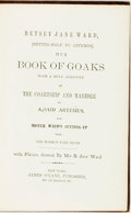 Books:Literature Pre-1900, [William Comstock]. Betsey Jane Ward, [Better-Half to Artemus] Hur Book of Goaks, et al. New York: James O'Kane, [18...