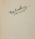 Books:Science Fiction & Fantasy, Ray Bradbury. Dark Carnival. Sauk City: Arkham House, 1947. First edition of the author's first book. Signed by Br...