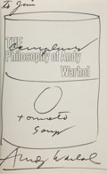 Books:Biography & Memoir, Andy Warhol. The Philosophy of Andy Warhol (From A to B and BackAgain). New York: Harcourt Brace Jovanovich, [1975]...