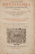 Books:Science & Technology, [Law]. Io. Maria Novario [Giovanni Maria Novario]. NovissimaeDecisiones Civiles, Criminales, & Canonicae... [Geneva...