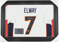 Football Collectibles:Uniforms, John Elway Signed Jersey....