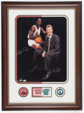 Basketball Collectibles:Photos, Michael Jordan and Larry Bird Multi Signed Oversized UDA Photograph- 39/123....