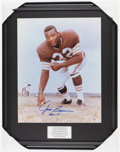 """Football Collectibles:Photos, Jim Brown """"HOF 71"""" Signed Oversized Photograph...."""