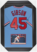 Baseball Collectibles:Uniforms, Bob Gibson Signed Jersey....