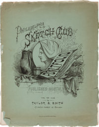 [American Lithography]. Philadelphia Sketch Club Portfolio. Philadelphia: Taylor & Smith, Janua