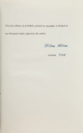 Books:Literature 1900-up, William Faulkner. A Fable. [New York]: Random House, 1954.First edition, one of 1,000 numbered copies (this bein...