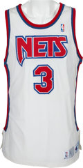 Basketball Collectibles:Balls, 1991 Drazen Petrovic Game Worn New Jersey Nets Jersey....