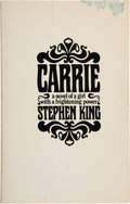 Books:Horror & Supernatural, Stephen King. Carrie. Garden City: Doubleday & Company,Inc., 1974. Advance Review Copy. Octavo. 199, [7, blank]... (Total:2 Items)