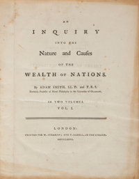 Adam Smith. An Inquiry into the Nature and Causes of the Wealth of Nations. London: