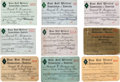 Baseball Collectibles:Others, 1927-58 Frank Ferguson Baseball Writers' Association of America Annual Press Passes Lot of 9....