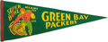 Football Collectibles:Others, 1968 Super Bowl II Green Bay Packers Pennant....