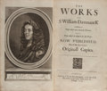 Books:Literature Pre-1900, Sir William D'Avenant (Davenant). The Works of Sr. WilliamD'avenant Kt Consisting of Those Which Were FormerlyPrinted,...