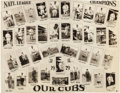 Baseball Collectibles:Photos, 1929 Chicago Cubs N.L. Champions Team Collage Photograph....