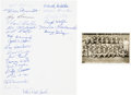 Football Collectibles:Photos, 1938 New York Football Giants Team Signed Photograph with Leemans& Hein....