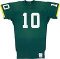 Football Collectibles:Uniforms, Early 1980's Jan Stenerud Game Worn Green Bay Packers Jersey....