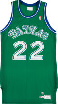 Basketball Collectibles:Uniforms, 1987 Rolando Blackman Game Worn Dallas Mavericks Jersey andShorts....