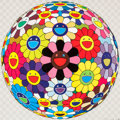 Prints:Contemporary, TAKASHI MURAKAMI (Japanese, b. 1962). Flower Ball (KindergartenDays), 2007. Offset lithograph in color. 19-3/4 x 19-3/4...