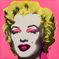 ANDY WARHOL (American, 1928-1987) Marilyn Invitation (Castelli Gallery), 1981 Screenprint in colors<