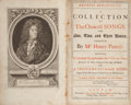 Books:Music & Sheet Music, Henry Purcell. Orpheus Britannicus. A Collection of all theChoicest Songs, for One, Two, and Three Voices, compos...(Total: 2 Items)