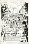 Original Comic Art:Splash Pages, Jerry Ordway and Mike Machlan - Infinity Inc. #10 Splash Page 27Original Art (DC, 1985). Featuring virtually every member o...