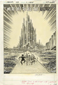 Original Comic Art:Splash Pages, John Romita Sr. - MGM's Marvelous Wizard of Oz #1 Back Cover (Cover4) Original Art (Marvel/DC, 1975). The Emerald City has ...