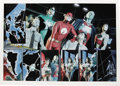 Original Comic Art:Panel Pages, Alex Ross - JLA: Liberty and Justice 2-page Spread Original Art(DC, 2003). We've offered some spectacular Alex Ross art in ...