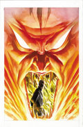 Original Comic Art:Covers, Alex Ross - Paradise X #8 Cover Original Art (Marvel, 2003). Doctor Strange stands calmly in the maw of Mephisto on this fir...