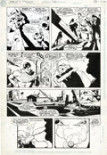 Original Comic Art:Panel Pages, Steve Rude and Karl Kesel - World's Finest #2 page 9 Original Art(DC, 1990). Steve Rude's classical style was a perfect fit...