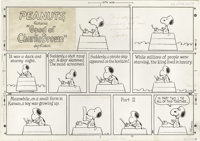 Charles Schulz - Peanuts Sunday Comic Strip Original Art, dated 11-16-69 (United Features Syndicate, 1969). One of the g...