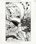 Original Comic Art:Covers, Walt Simonson - Mister Miracle #6 Cover Original Art (DC, 1996). Two big girls have a big, knock-down, drag-out fight at the... (Total: 2 Items)