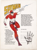 "Original Comic Art:Sketches, Jim Steranko - Spyman Concept Art, Partial Cover Original Art(Harvey, 1966). Created by Jim Steranko, Spyman was an ""enemy ...(Total: 2 items)"