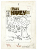 Original Comic Art:Covers, Marty Taras (attributed) - Baby Huey, the Giant Baby #13 CoverOriginal Art (Harvey, 1958). The overgrown duckling takes a f...