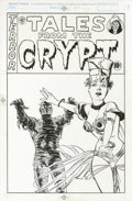 "Original Comic Art:Covers, Mike Vosburg - ""Tales From the Crypt"" TV Series Cover IllustrationOriginal Art (1989). Mike Vosburg carries on the ""good gi..."
