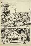 "Original Comic Art:Splash Pages, Al Williamson - ""Pellucidar/""Tarzan Try-Out Splash Page OriginalArt (1957). Al Williamson is a legend among comic fans for ..."
